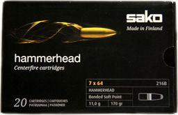 Sako Amunicja kulowa SAKO 7x64 Hammerhead 11,0g uniwersalny
