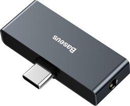 Adapter USB Baseus Baseus L57 Adapter Do Słuchawek Przejściówka Z Usb Typ C Na Usb Typ C + 3.5mm Mini Jack Czarny (catl57-01)