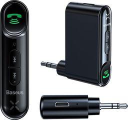 Transmiter FM Baseus Odbiornik Dźwięku Bluetooth Audio Aux Mini Jack Do Samochodu Czarny (wxqy-01)