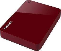 Dysk zewnętrzny Toshiba Canvio Advance 4 TB hard drive(czerwony, USB 3.0)