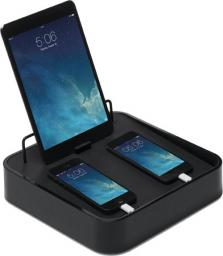 Stacja dokująca BlueLounge Sanctuary4 z ładowarką USB do 4 urządzeń czarna (S4-BL)