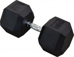 Eb Fit Hantel gumowany Hex 50kg czarny