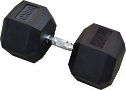 Eb Fit Hantel gumowany Hex 55kg czarny