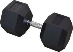 Eb Fit Hantel gumowany Hex 52.5kg czarny