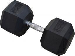 Eb Fit Hantel gumowany Hex 42.5kg czarny