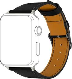 Topp TOPP pasek do Apple Watch 38/40 mm skóra, czarny