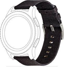 Topp TOPP pasek do Samsung Galaxy Watch 46 mm nylon pleciony, czarny
