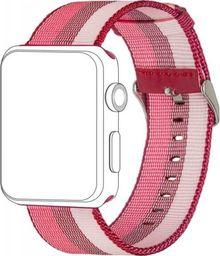 Topp TOPP pasek do Apple Watch 42/44 mm nylon pleciony, odcienie czerwonego