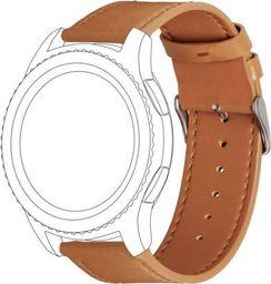 Topp TOPP pasek do Samsung Galaxy Watch 42 mm skóra, brązowy