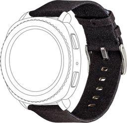 Topp TOPP pasek do Samsung Galaxy Watch 42 mm nylon pleciony, czarny