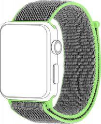 Topp TOPP pasek do Apple Watch 38/40 mm nylon siatka, szaro-zielony