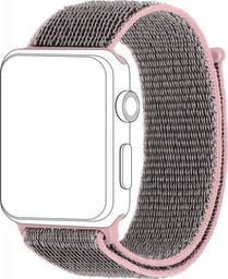 Topp TOPP pasek do Apple Watch 38/40 mm nylon siatka, szaro-różowy