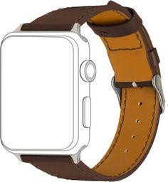 Topp TOPP pasek do Apple Watch 38/40 mm skóra, brązowy