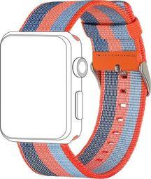 Topp TOPP pasek do Apple Watch 42/44 mm nylon pleciony, pomarańczowo-niebieski