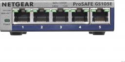 Switch NETGEAR ProSafe Plus 5x 10/100/1000 Mbps (GS105E-200PES)