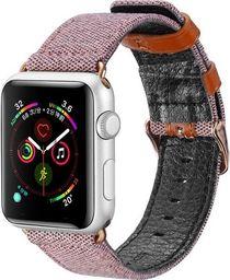 Dux Ducis Dux Ducis Litchi Grain Band pasek opaska bransoleta do Watch 4 44mm / Watch 3 42mm / Watch 2 42mm / Watch 1 42mm różowy uniwersalny