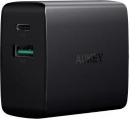 Ładowarka Aukey Aukey PA-Y9 Podwójna Ładowarka ścienna z USB-C