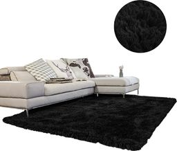 Dywan - Living Room Shaggy 80x150 - Black uniwersalny