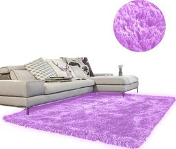 Dywan Living Room Shaggy 140x200 fioletowy uniwersalny (15169)