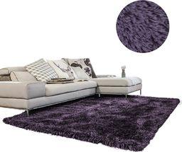 Dywan gruby gęsty miękki pluszowy - Living Room Shaggy 100x150 - Grey-Purple uniwersalny