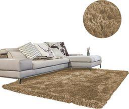 Dywan gruby gęsty miękki pluszowy Living Room Shaggy 100x150-CappuccinoCamel uniwersalny