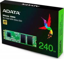 Dysk SSD ADATA Ultimate SU650 240 GB M.2 2280 SATA III (ASU650NS38-240GT-C)