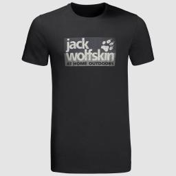 Jack Wolfskin Koszulka męska Logo T Black r. M
