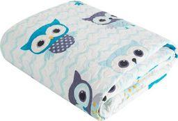Eurofirany Narzuta Dziecięca Pikowana Owl Niebieska 170x210