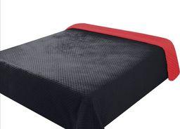 Eurofirany Narzuta Pikowana FILIP Czerwony + Czarny  70x150