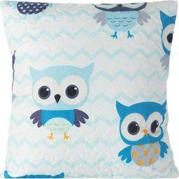 Eurofirany Poszewka Dekoracyjna Pikowana Owl Niebieska 40x40