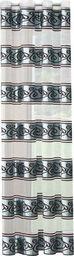 Eurofirany Zasłona Gotowa Przelotki Lisa Nieb Biały  140x250