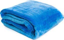 Świat Sypilani Koc Narzuta Flanela 004 Niebieski Na Sofę  150x200