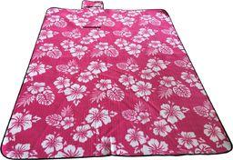 Royokamp  Koc Plażowo Piknikowy 200X150Cm Różowy Kwiaty Royokamp