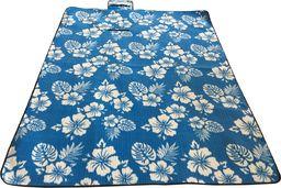 Royokamp  Koc Plażowo Piknikowy 200X150Cm Niebieski Kwiaty Royokamp