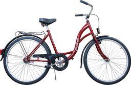 """Rower Miejski Damski 28"""" Classic Bordowy"""