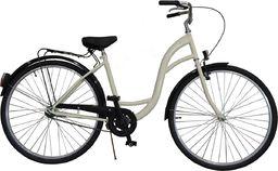 """Rower Miejski Damski 26"""" Classic Kremowy"""