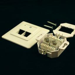 NetRack gniazdo kompletne podtynkowe 2xRJ45 8p8c UTP Cat5e LSA - 106-04