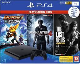 Sony Playstation 4 Slim 1TB + Ratchet & Clank + The Last of Us Remastered + Uncharted 4: Kres Złodzieja