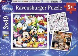 Ravensburger Puzzle 3x49 el. Ravensburger - Klasyczny Disney uniwersalny