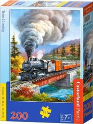 Castorland Puzzle 200 Train Crossing CASTOR