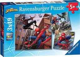 Ravensburger Puzzle 3x49 Spiderman w akcji
