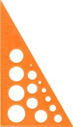 Panta Plast Ekierka z kółkami szablonami 19cm