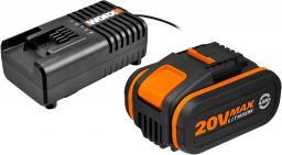 Worx zestaw akumulatorów z ładowarką Li-Ion (WA3604)