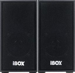 iBOX Zestaw głośników IBOX IGLSP1B (2.0; ciemne drewno)
