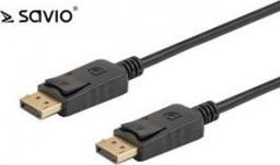 Kabel Savio DisplayPort - DisplayPort 1m czarny (CL-135)