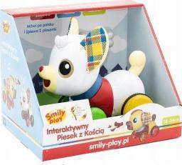 Smily Play Piesek interaktywny z kością biały