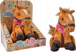 Askato Koń na baterie brązowy