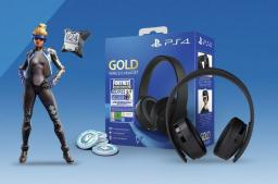 Słuchawki Sony Sony PS4 Gold Wireless Headset + Fortnite content (PS4)
