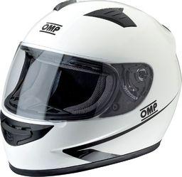 OMP Racing Kask zamknięty OMP Circuit biały XS