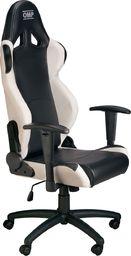 OMP Racing Fotel biurowy OMP MY16 czarno/biały uniwersalny